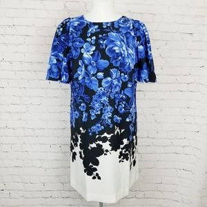 Ann Taylor|Blue Floral Shift Dress
